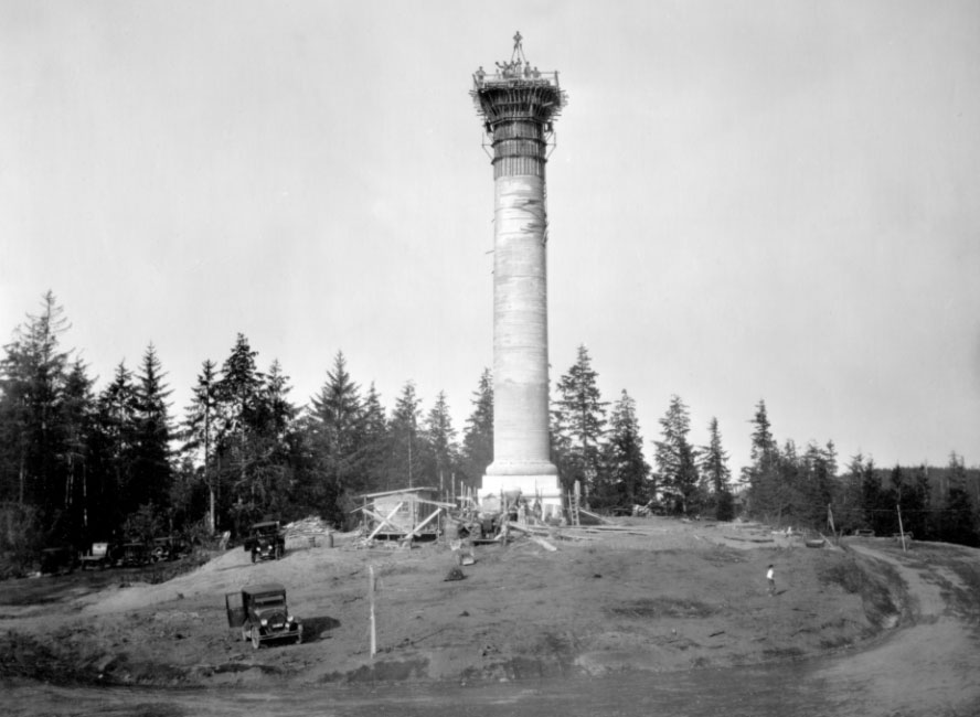 Astoria Column under construction in 1926
