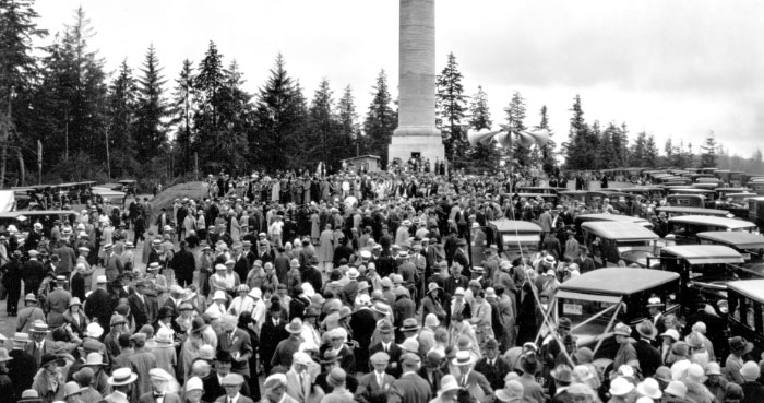 The Astoria Column was incomplete on dedication day: July 22, 1926.