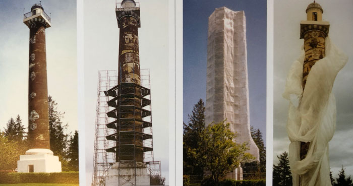 1995 restoration of the Astoria Column: before during and after the unveiling