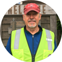 Grounds and parking staff member Bob Barr