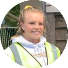 Grounds and parking staff member Hailey O'Brian